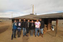 Fellows at Hogan in Blue Gap, AZ