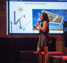 Graduate student presents at Energy Talks